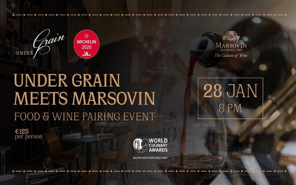 Under Grain meets Marsovin for exclusive Food & Wine night